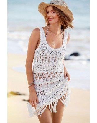Copricostume A Uncinetto šaty Crochet Beach Dress Bikini Dress