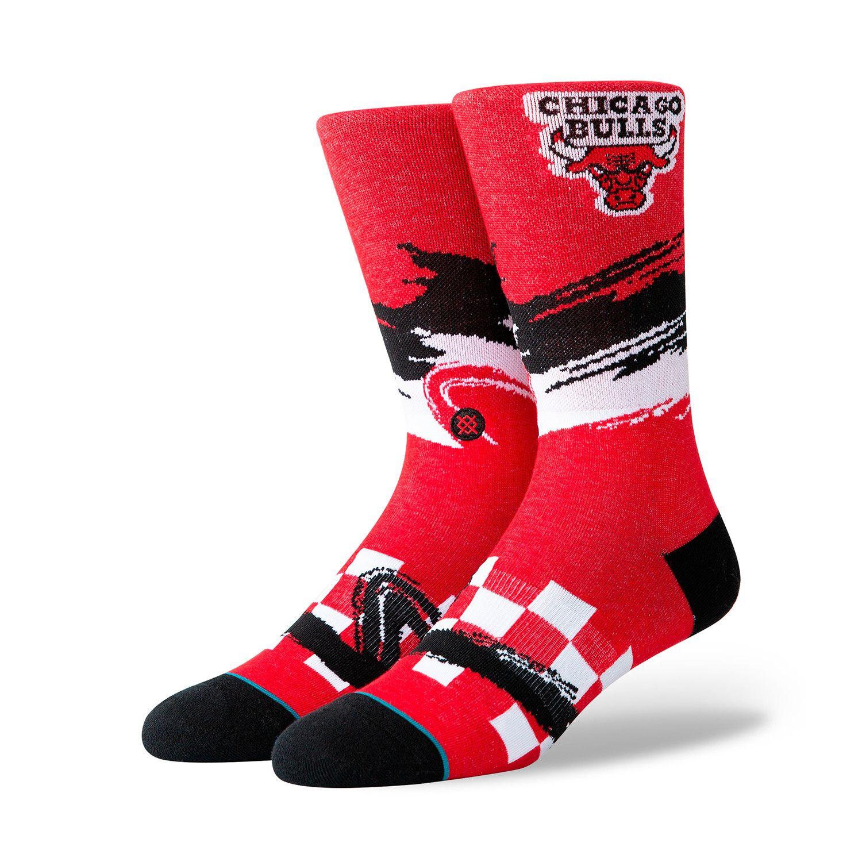 Bulls wave racer socks red socks team socks mens socks
