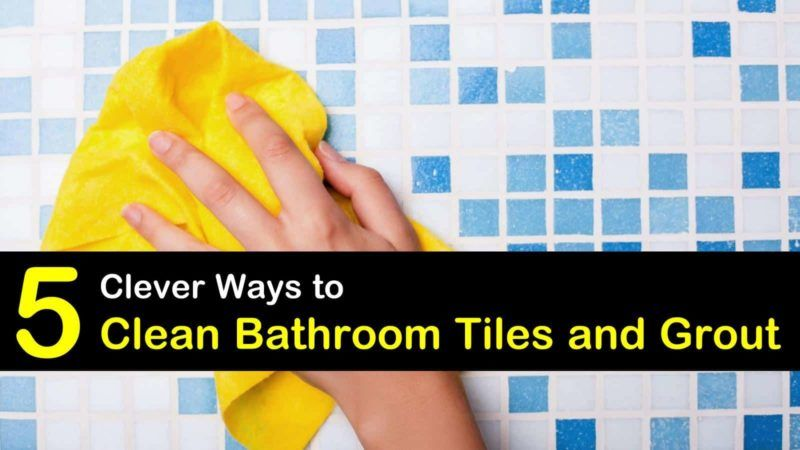 Find Out How To Clean Bathroom Tile Using Homemade Grout Cleaner With Diy Recipes That Use Household I In 2020 Cleaning Bathroom Tiles Bathroom Cleaning Tile Bathroom