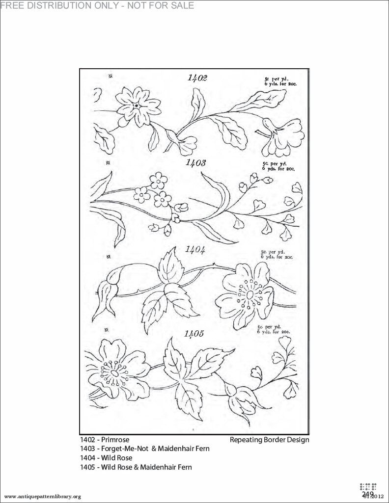 Flower border embroidery patterns embroidery pinterest flower border embroidery patterns bankloansurffo Gallery