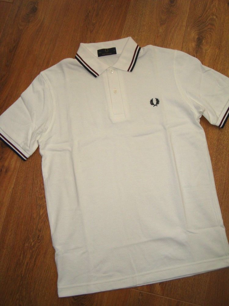 6f1cd9d3b NEW FRED PERRY M12 Twin Tipped Pique Polo CREAM top SIZE S 38 INCH 96 CM   fashion  clothing  shoes  accessories  mensclothing  shirts (ebay link)