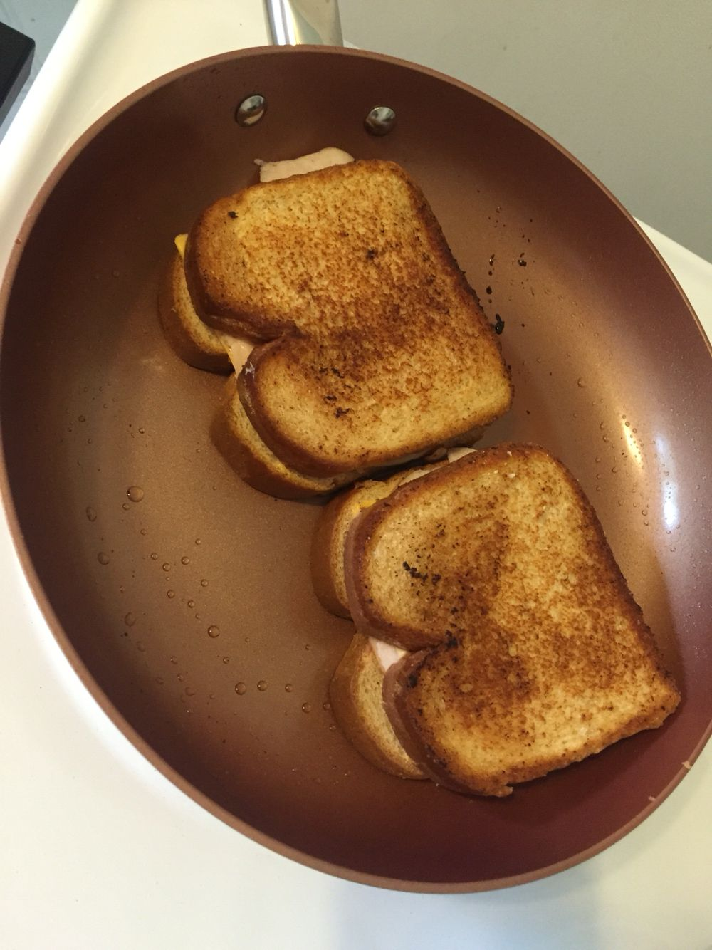 Grilled Cheese Using Copper Chef Pan Food And Drink Pinterest