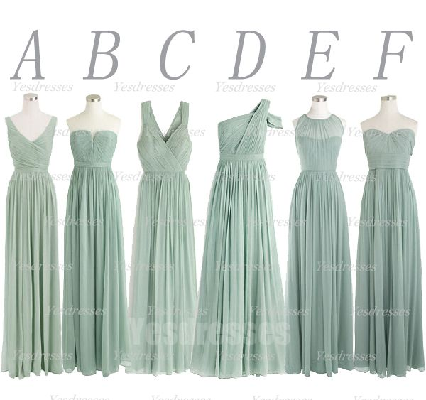 Most Brides Order All Bridesmaid Dresses At A Time We Recommend Mismatched Green Bridesmaid Dresses Bridesmaid Dresses Long Chiffon Wedding Bridesmaid Dresses