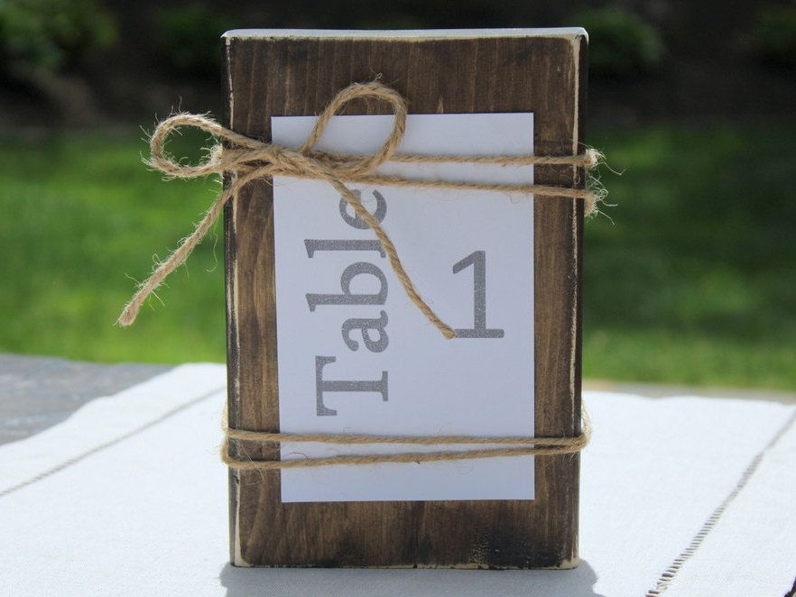 Rustic Table Number - Wedding Table Number, Shower Table Number, Party Favor, Party Supplies by Creazi on Etsy