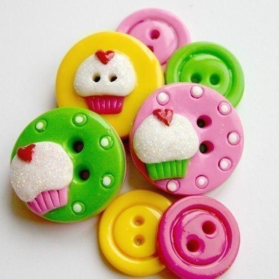 Sweet Cakes (handmade buttons