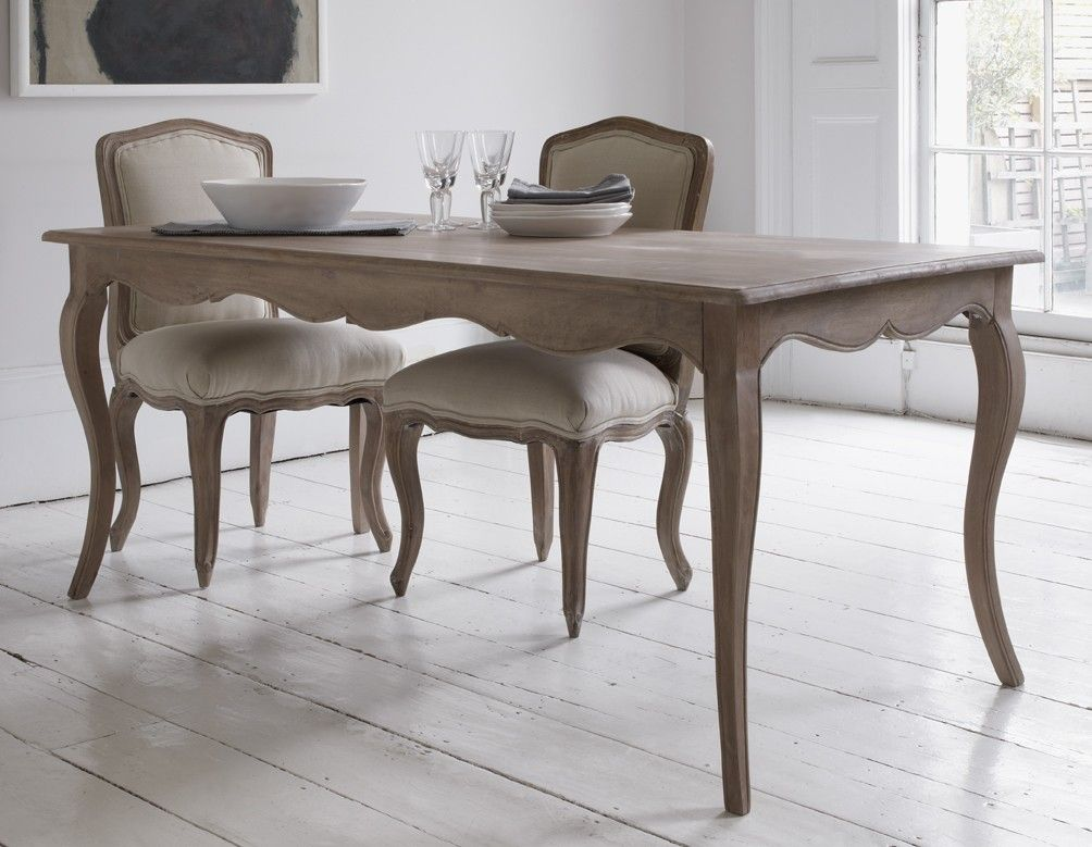 Elegant Dining Table With Curved Legs And Attractive Detailing In A Natural Limed Wood Finish Classic Style One Of Our Most Popular Pieces