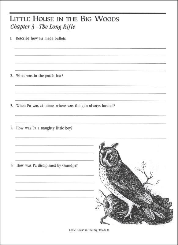 Little House in the Big Woods Comprehension Guide (041781) Details ...