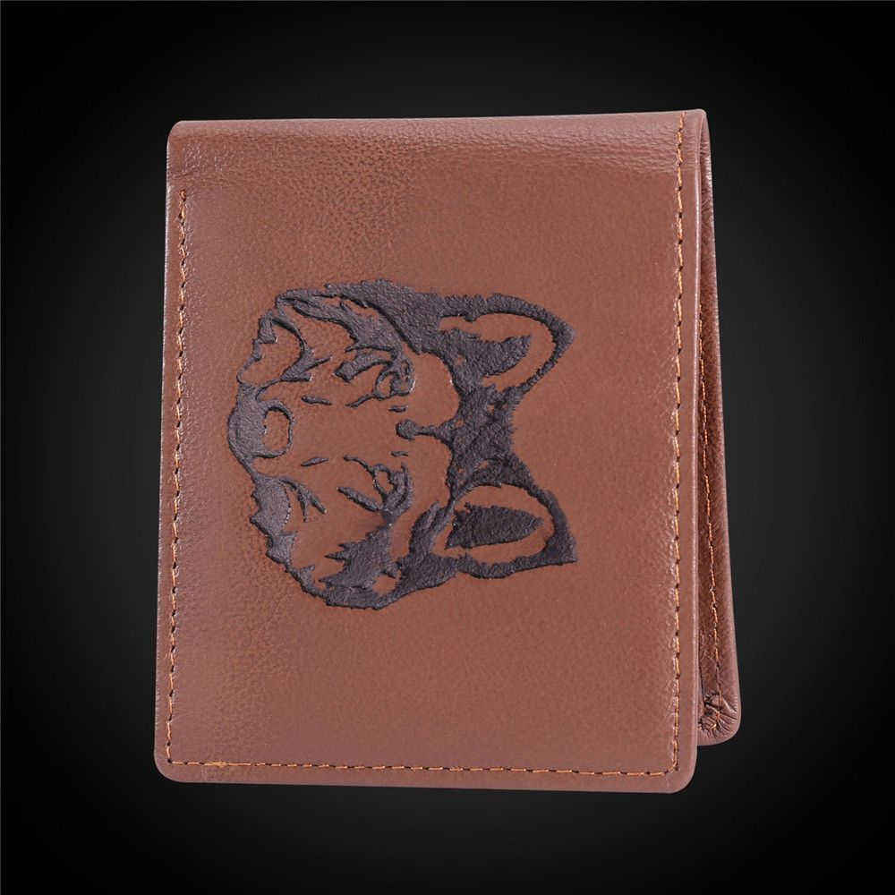 Men's Wallet Cool Wolf High Quality Genuine Leather Wallet Gift For Men