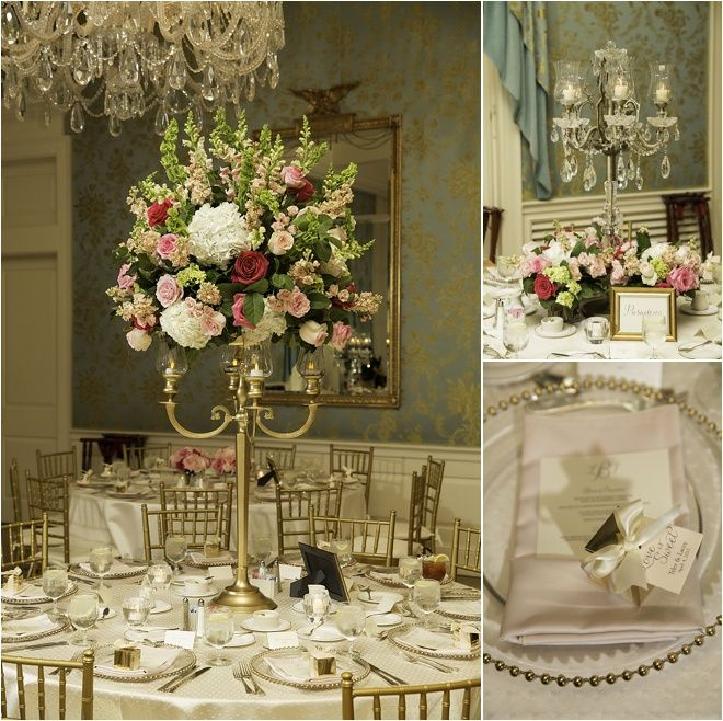 Ivory Pink Gold Amp Green Wedding Decor Elegant Wedding Ideas Photos D Jones Photography