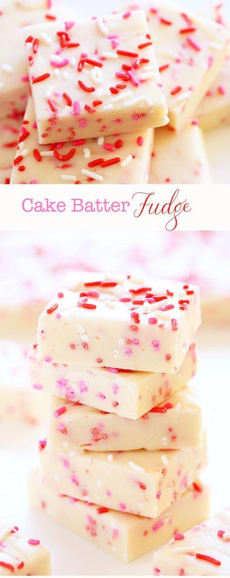 Cake Batter Fudge {Valentine's Day}