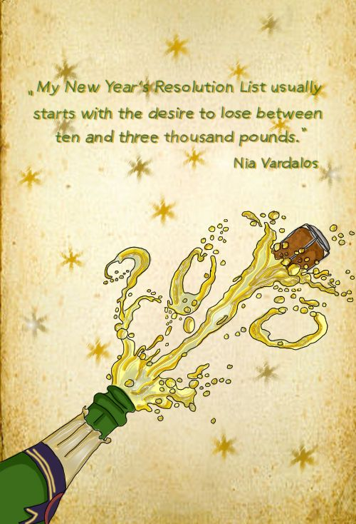 Happy new year! (illustration by Celine Schroeder, quote by Nia Vardalos)