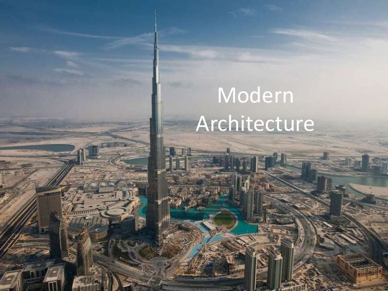 Modern Architecture Questions powerpoint about modern architecture. describing different