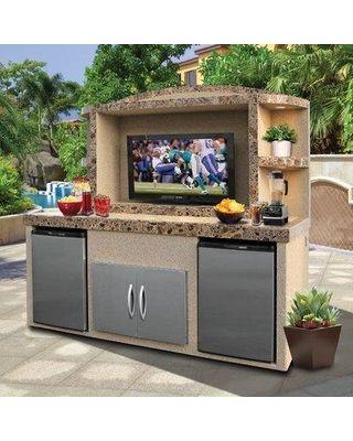 Freeport Park Freeport Park Tia Outdoor Entertainment Center Serving Bar GSQL2546 from Wayfair   Martha Stewart
