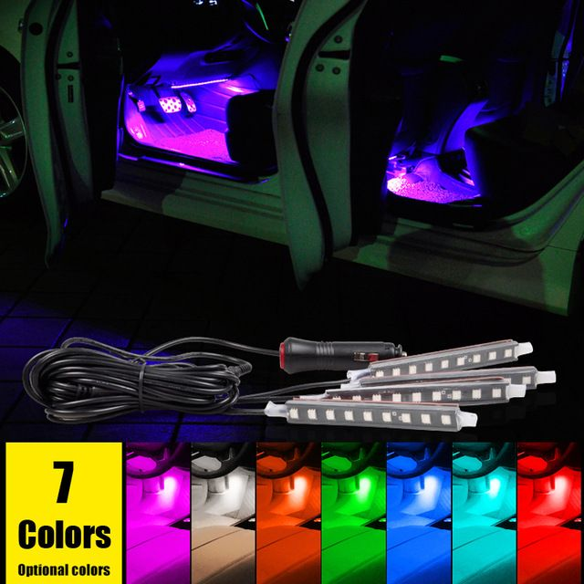 New Car Decorative Atmosphere Lamp Led Interior Floor Lights For Volkswagen Polo Gti Polo R Wrc Scirocc Car Interior Accessories Volkswagen Volkswagen Polo Gti