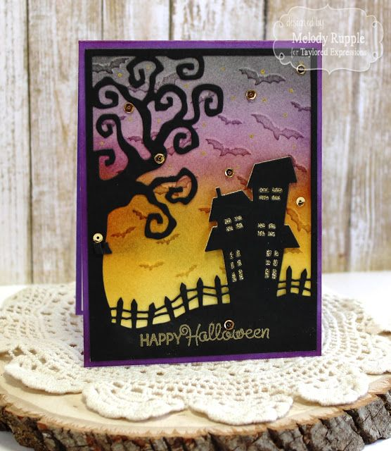 Haunted Happy Halloween Handmade Halloween Card #tayloredexpressions
