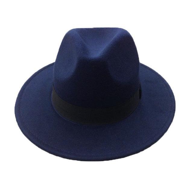 63c52df9e3c0e4 Retro Fedora Hats in Colors For men and women. Winter Felt Caps with Wide  Brim. A Vintage Trilby Caps Sombrero de Hombre Gender: Unisex Style: Casual  ...