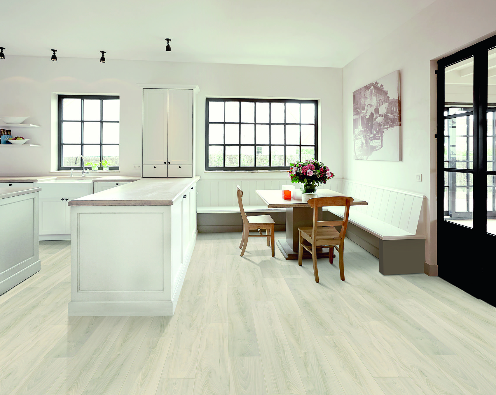 Vloer keuken vloer inspiratie laminaat eetkamer laminaat eiken