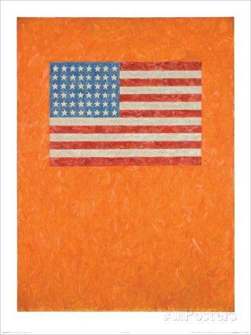 Flag On Orange Field Affiche Par Jasper Johns Sur Allposters Fr Jasper Johns Flag Art Shop Art Prints
