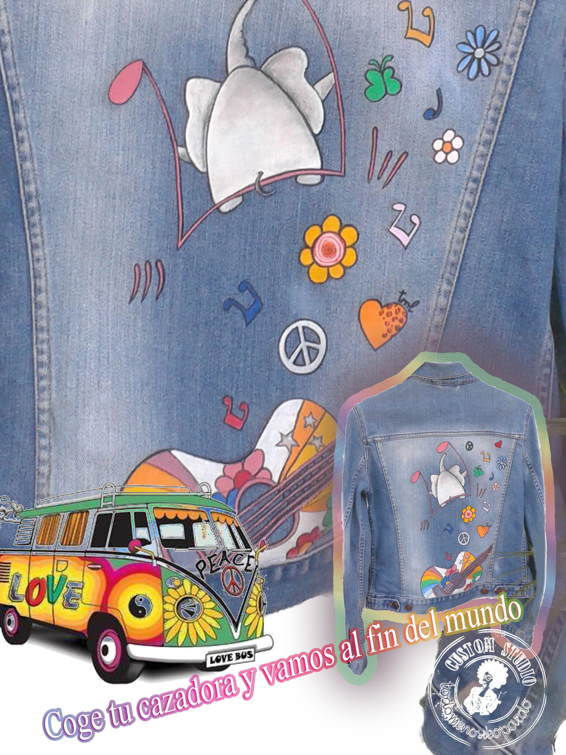 Cazadora vaquera - Hippie girl