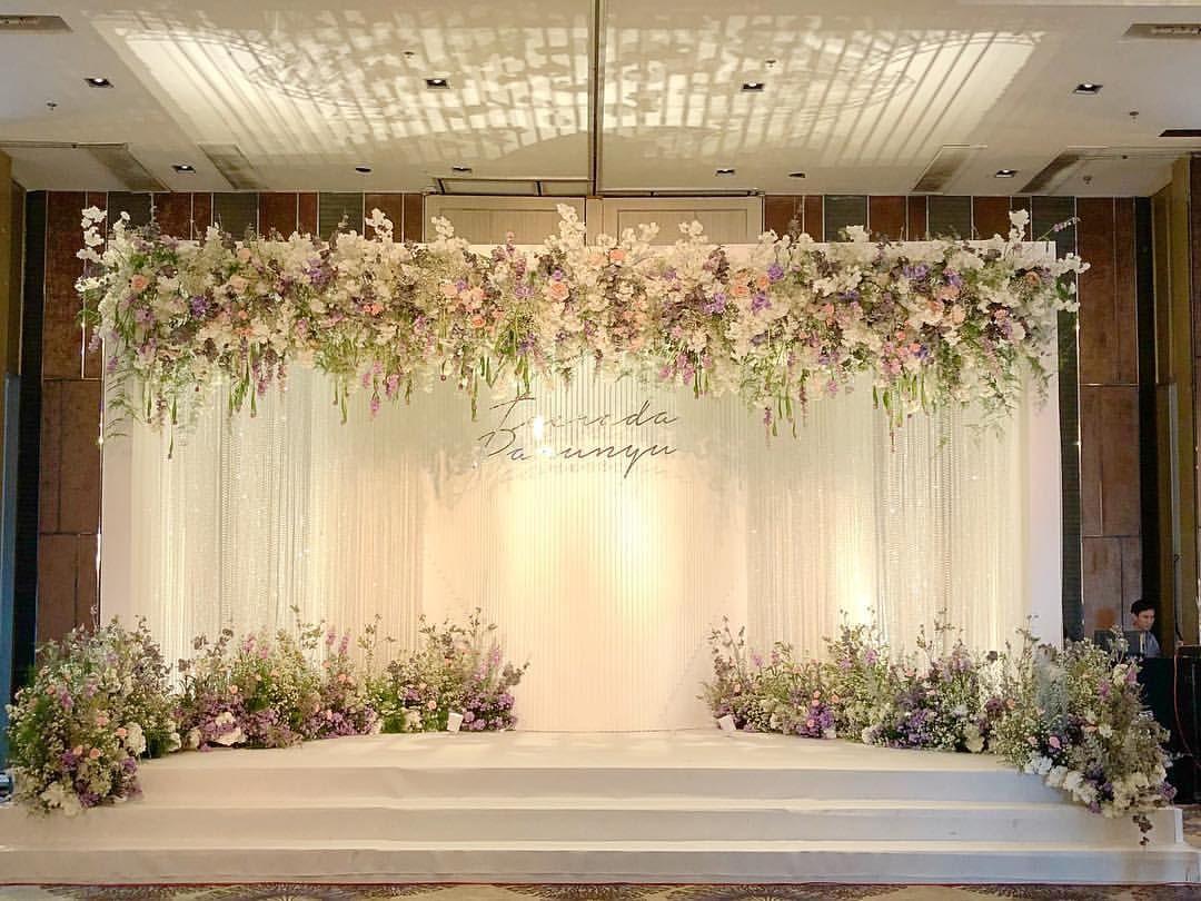 Flowers Stage Wedding Flowers Design Wedding2018 Thaiwedding Decoration Hugw Wedding Backdrop Design Wedding Backdrop Decorations Wedding Stage Backdrop