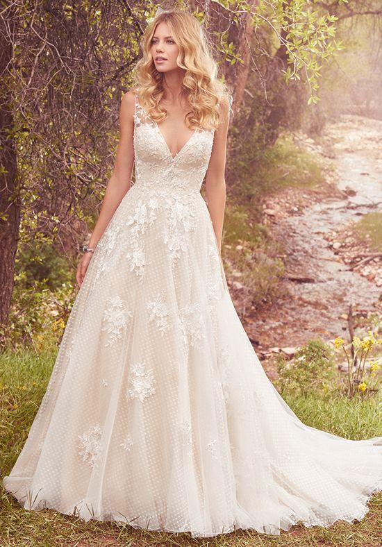 Wedding Dresses: Illustration Description Vintage-Inspired Ball Gown ...