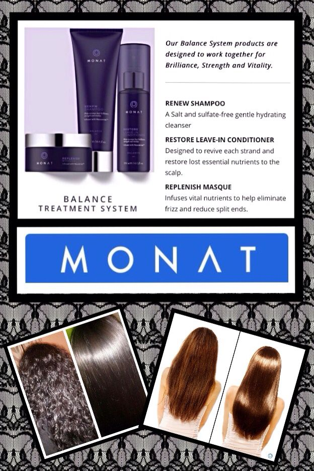 MONAT Balance System hair style straighten (With images