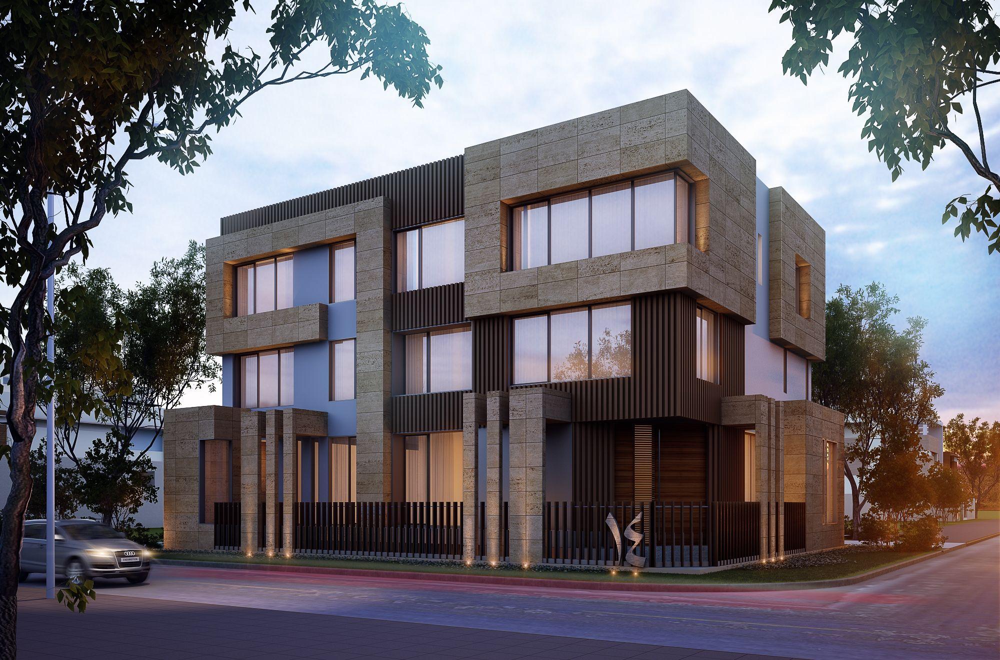 1000 m private villa kuwait sarah sadeq architects sarah for Modern house design kuwait