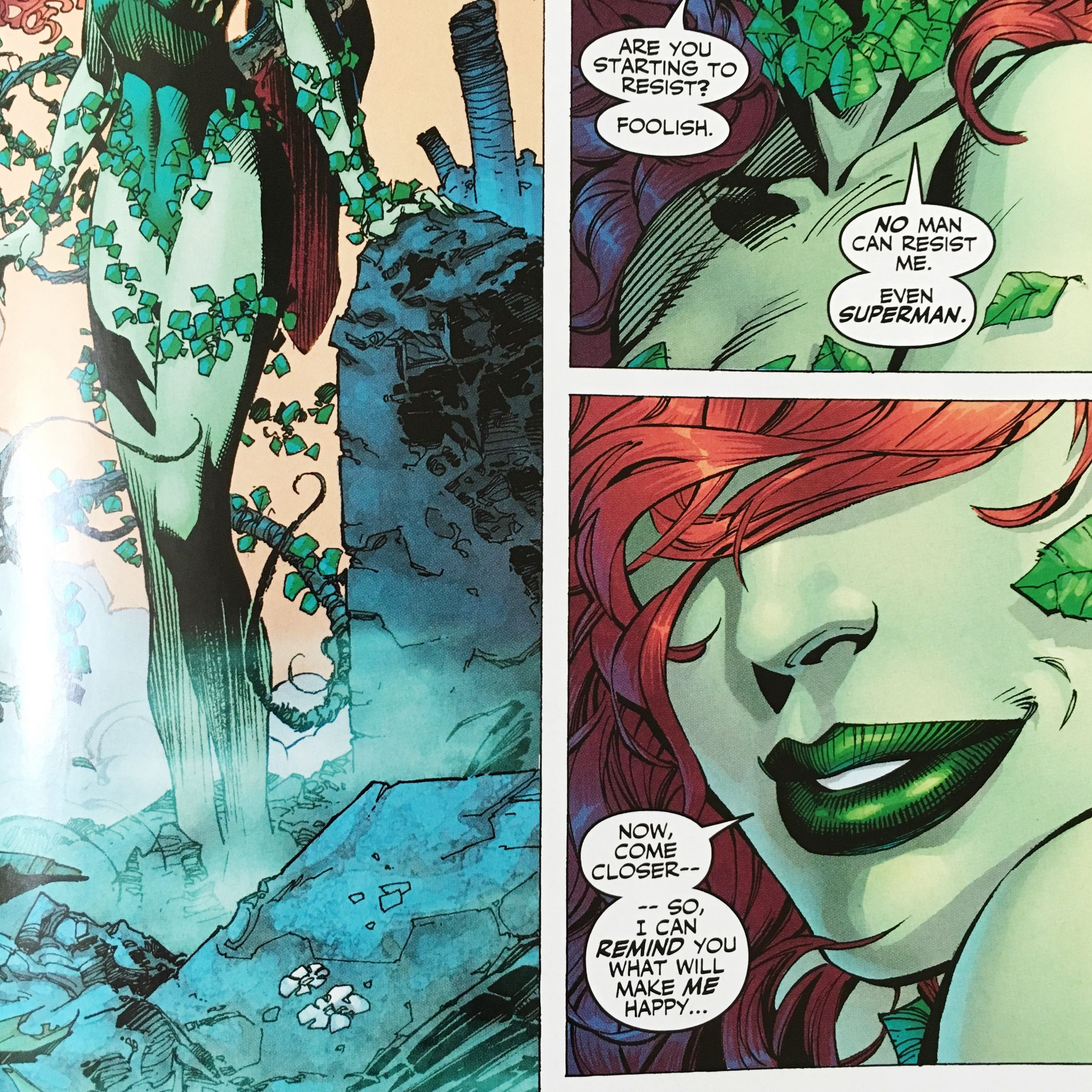 Hush Comic Strip Poison Ivy Superman Poison Ivy Comic Poison Ivy Dc Comics Dc Poison Ivy