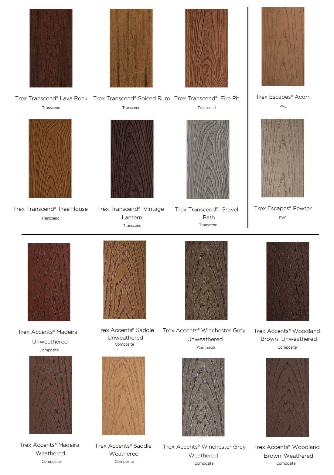 colors of composite decking