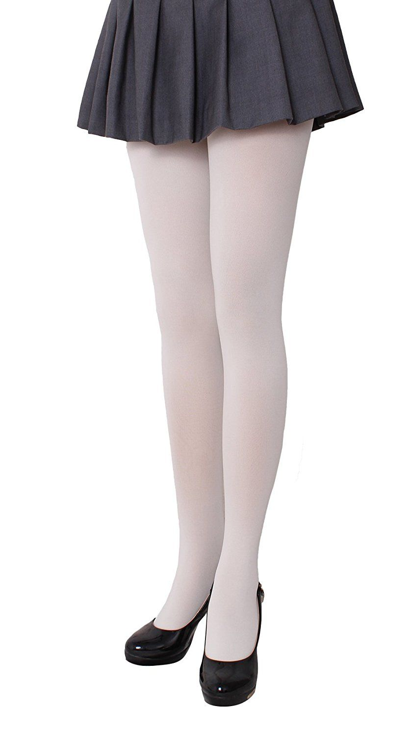 d676afc9f4fd6 Amazon.com: CozyWow Women's Solid Color Opaque Footed Tights Goldenrod:  Clothing