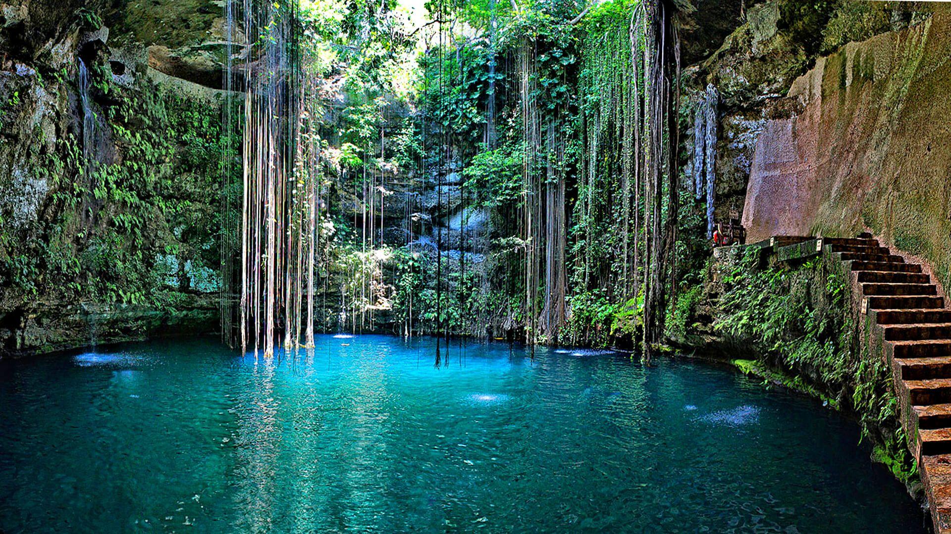 Ik Kil cenote Wallpaper 2017 Cancun mexico travel