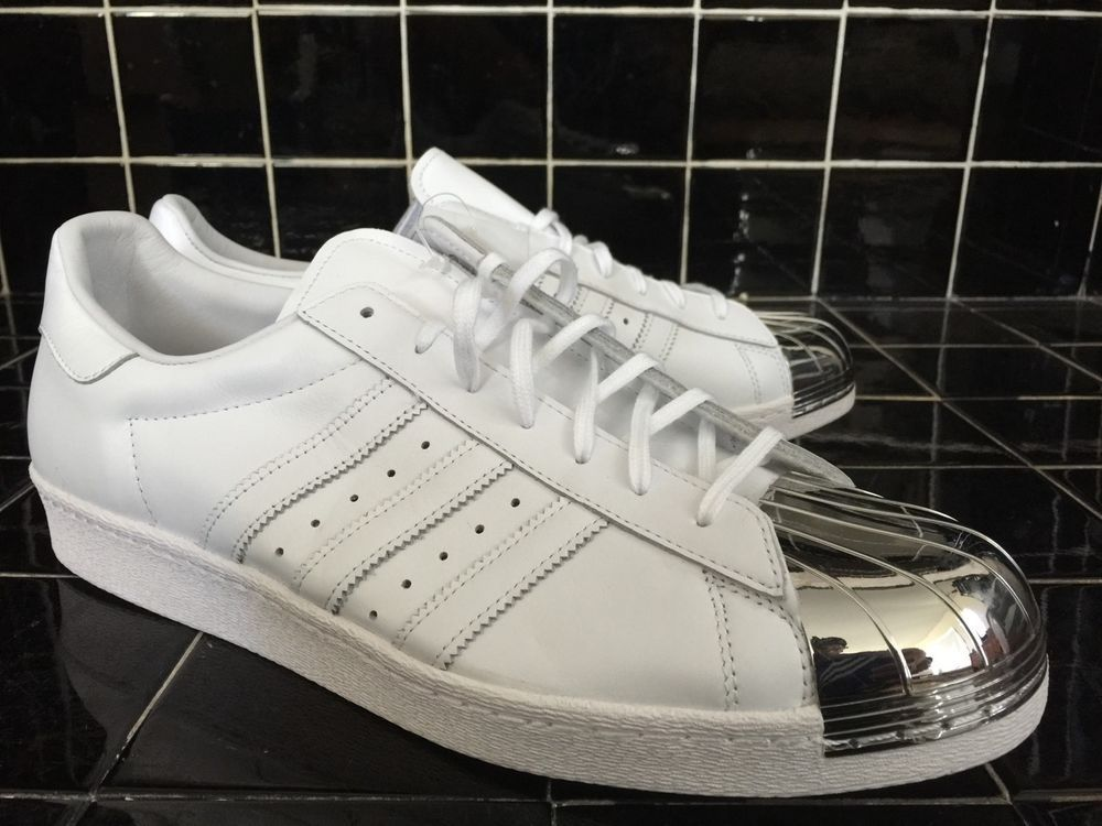 ADIDAS ORIGINALS SUPERSTAR 80's METAL WHITE SILVER D67952 sz 14 #adidas #BasketballShoes