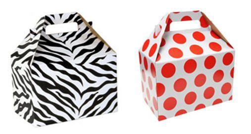 Zebra and polka dot #gableboxes.. Order online call us now: 800-959-3878