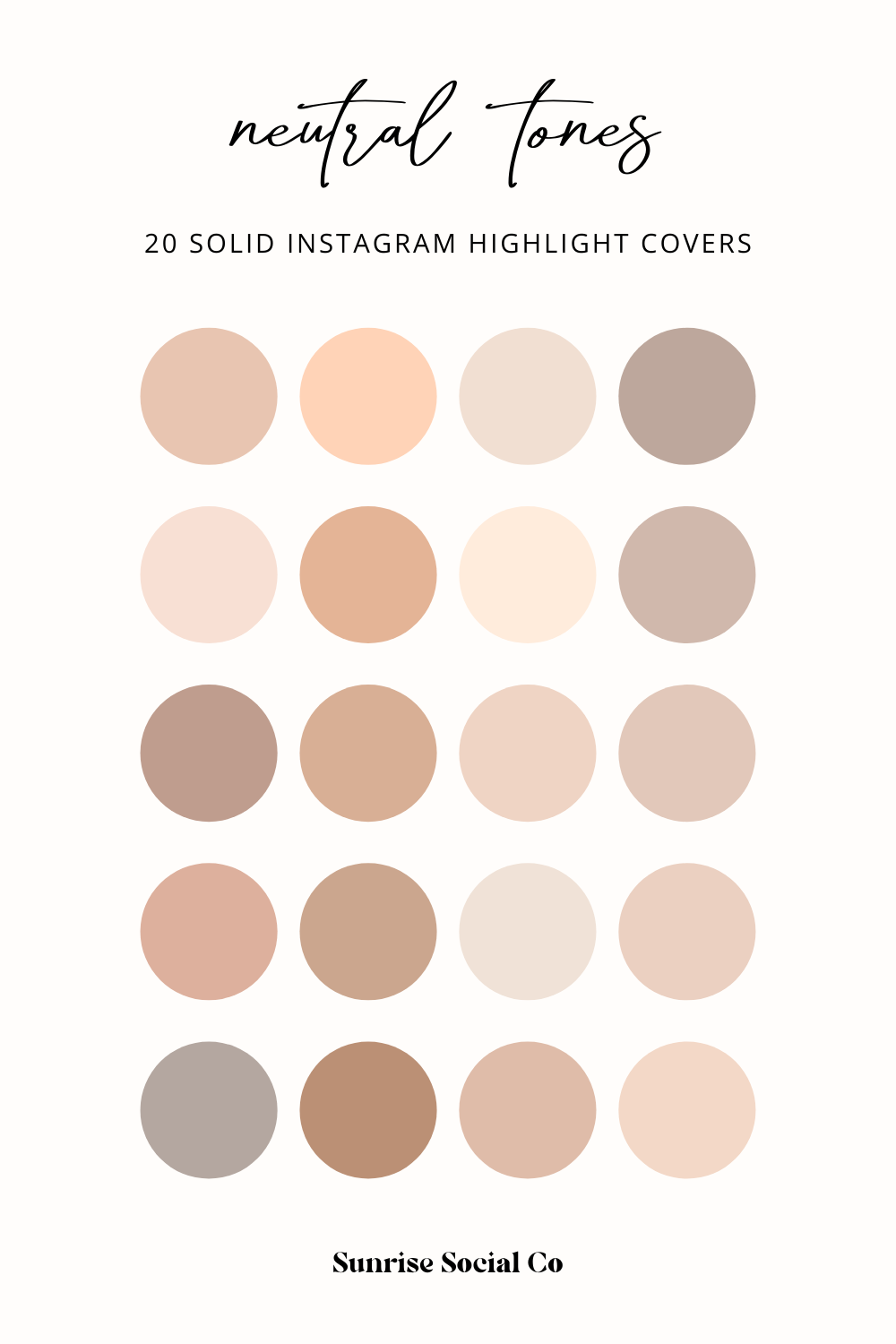 Neutral Tones | 20 Solid Instagram Highlight Covers