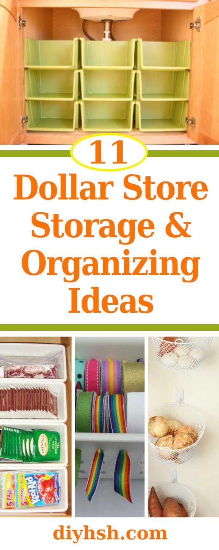 11 Dollar Store Storage & Organizing Ideas images
