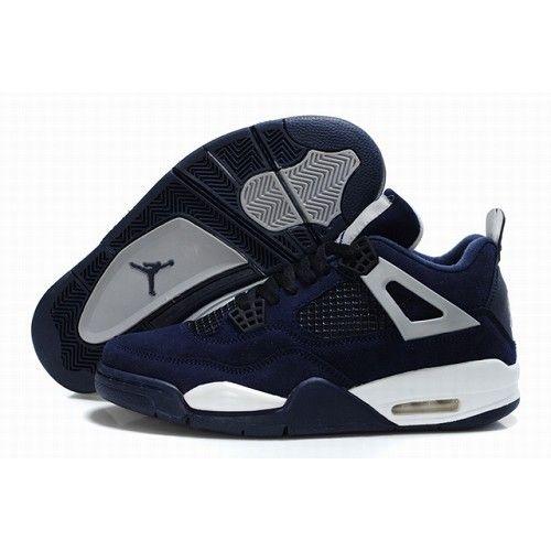 ... Hommes De Bleu Foncé pcttmFGJX. SKU8535634062. sortie 2014 unisexe  expédition monde entier Air Jordan Retro 4 Chaussures Nike Anti-fourrure  Des air