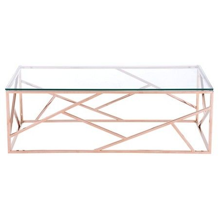 Cage Coffee Table Rose Gold Zuo Target With Images Rose