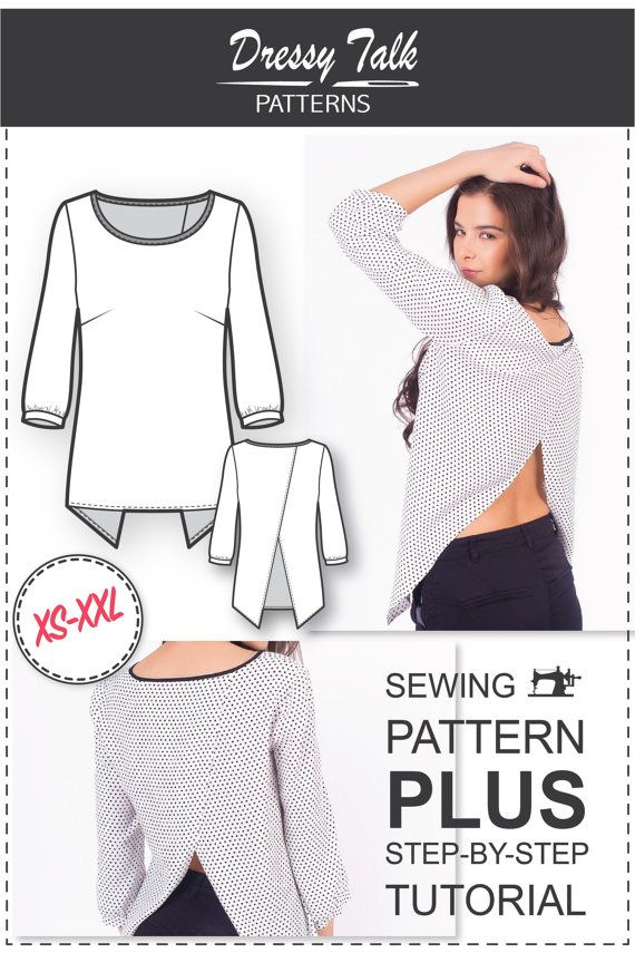 Top Patterns - Cross Back Top Pattern - Blouse Patterns - Sewing ...