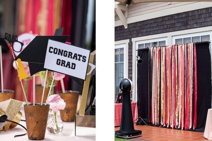 diy photo booth backdrop graduation