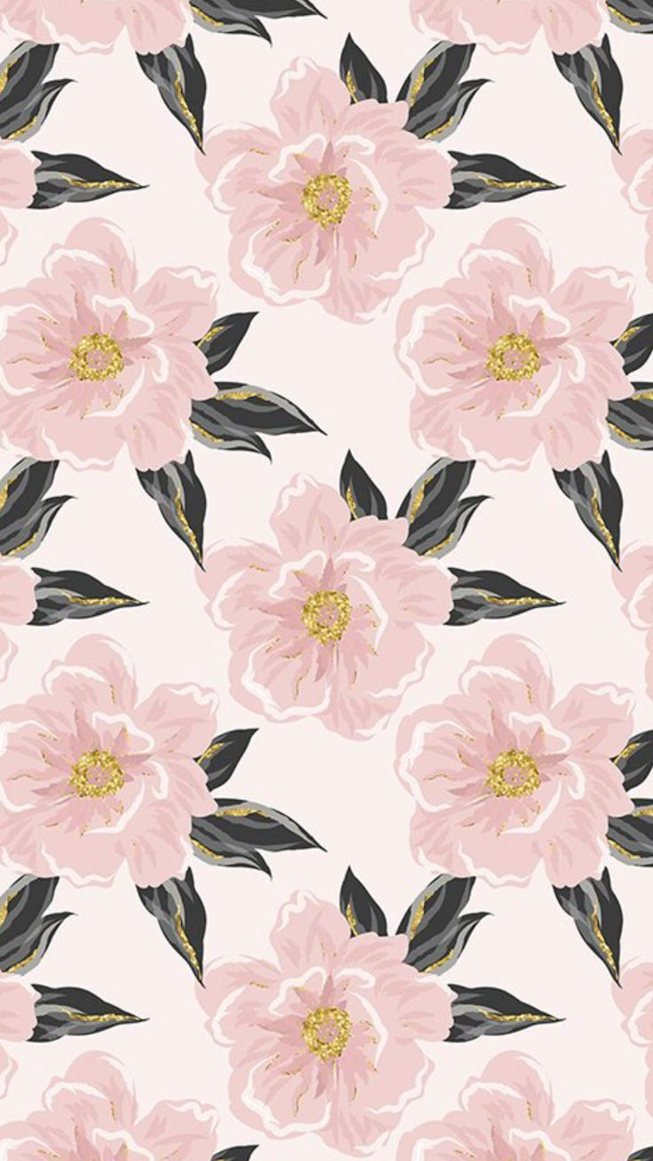 Flowers Pattern Pink Pastel Iphone Wallpaper Pattern Flower Background Wallpaper Flower Backgrounds