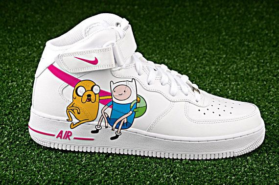 2cdf1d4334bb2 Adventure time custom air force one ,custom sneakers,custom shoes ...