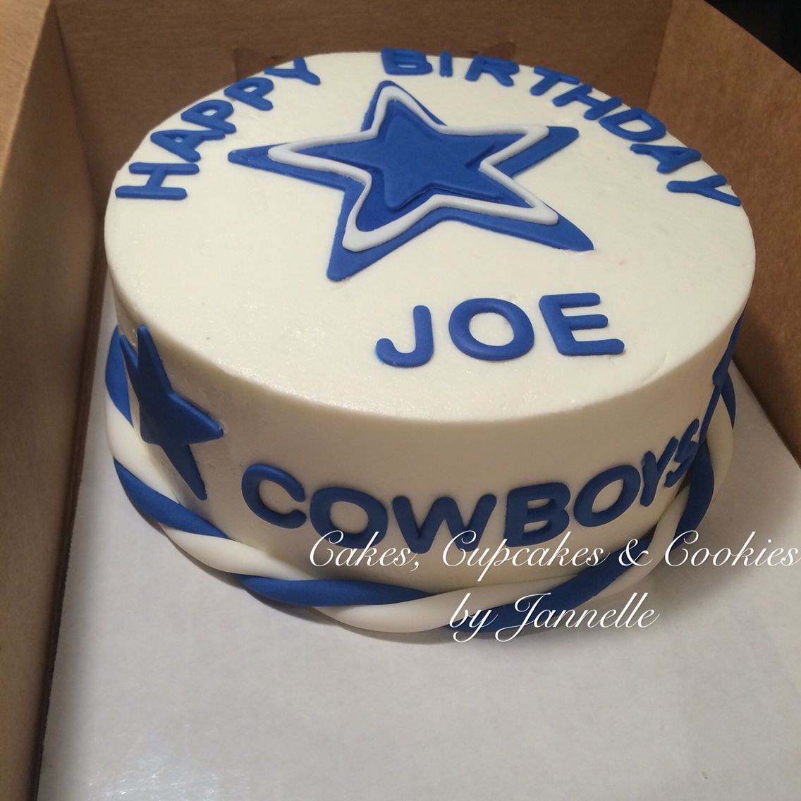 Dallas Cowboys Birthday Cake 8 inch double layer cake
