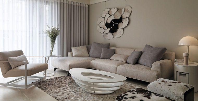 Pitturare casa pareti grigio chiaro living moderno interior design