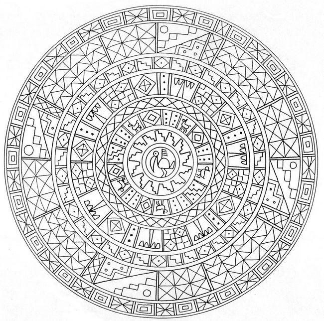 ausmalbild Mandala von Mexiko | PAPER STUFF | Pinterest ...