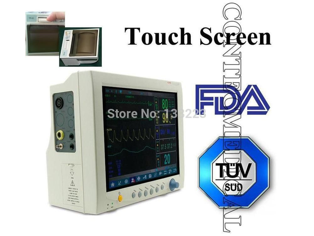 Cms7000 Plus Touch Screen Icu Ccu Patient Monitor Eg Nibp Spo2 Resp Temp Pr Printer 12 1 Large Screen 6 Parameter Touch Screen Icu Printer