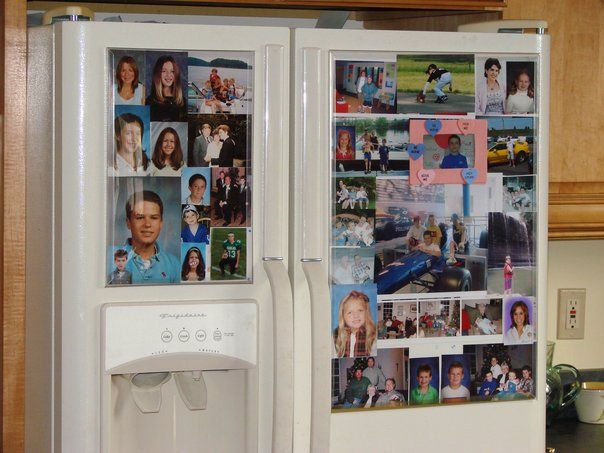 The Fridgemag is a large magnetic photo frame for your refrigerator ...