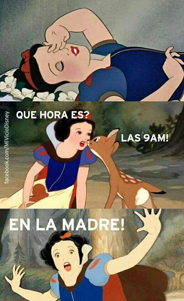 Que Hora Es Disney Memes Funny Spanish Memes Funny Memes