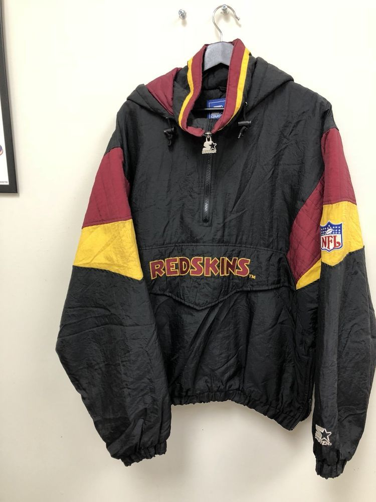 f81e1ac46 VINTAGE 1990s STARTER JACKET MENS L WASHINGTON REDSKINS NFL PUFFER FREE  SHIPPING