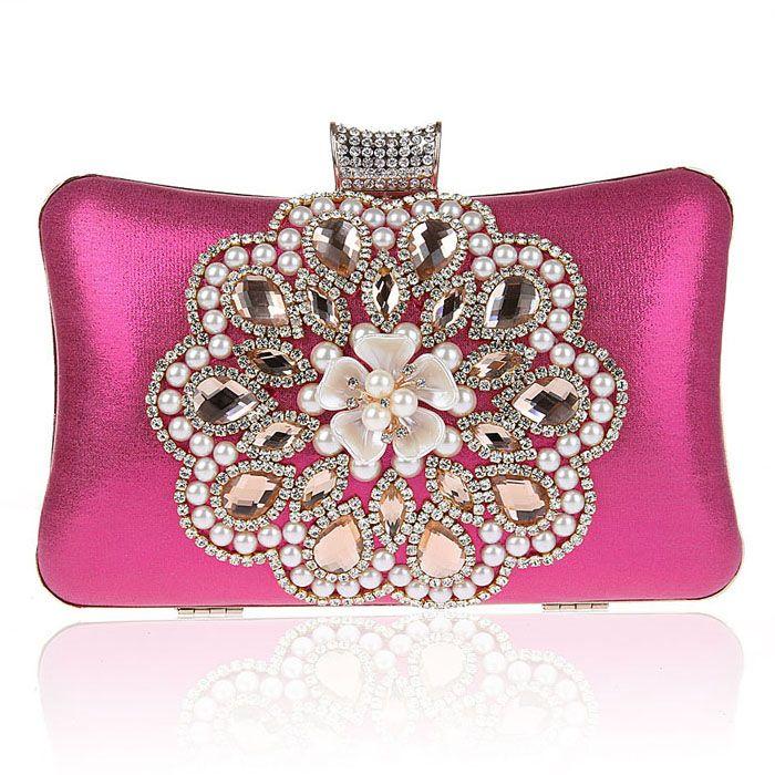 e2d4e96b476d 2017 New Diamond Ladies Clutch Famous Women Elegant Wedding Evening Bags  Delicate Bags Crystal Evening Clutch Purse Handbags