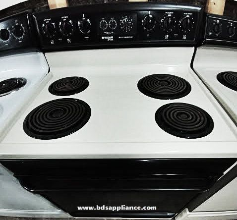 Frigidaire Beige And Black Self Cleaning Coil Top Electric Stove